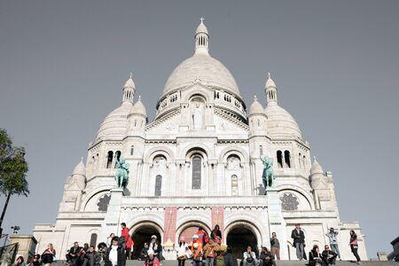 sacre: PARIS, FRANCE - NOVEMBER 26, 2015 : A closup of Basilica Sacre Coeur in Montmartre in Paris, France.