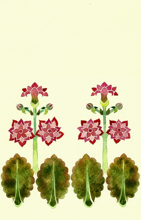 pastiche: art deko border floral