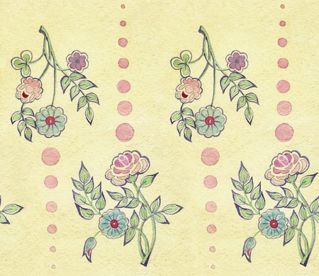 retro floral pattern photo