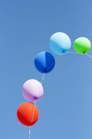 colorfull ballons in the sky photo