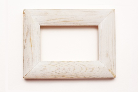 shabby chic empty white toned wooden frame