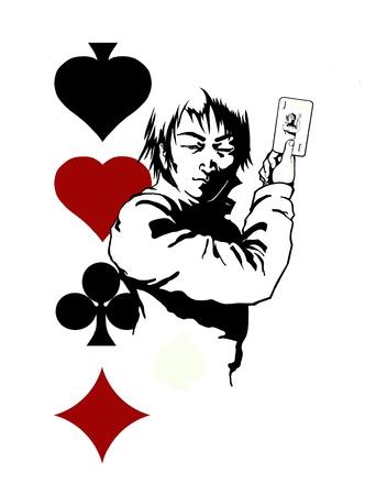 gambler: gambler king black and white graphic