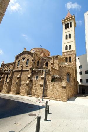 beirut lebanon: St  Louis capuchin catholic church in downtown of Beirut, Lebanon Stock Photo