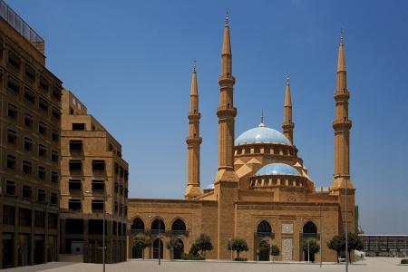 The Magnificent Mohammed el-Amine Mosque in downtoun Beirut, Lebanon Foto de archivo