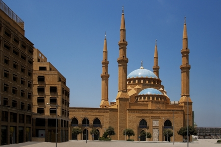 beirut lebanon: The Magnificent Mohammed el-Amine Mosque in downtoun Beirut, Lebanon Stock Photo