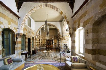 SAIDA, LEBANON - JUNE 27  interior of 17th century Debbane Palace