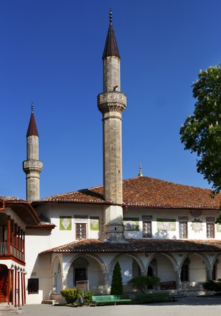 The Big Khan Mosque in Khan palace in Bakhchisaray was built in 1532 photo