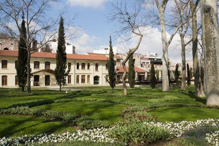 Spling landscape in Gulhane park, Istanbul, Turkey