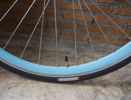 ciclos: Presta valve or Sclaverand valve or French valve on sky blue rim