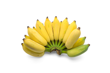 cultivated: Cultivated banana isolated on white background