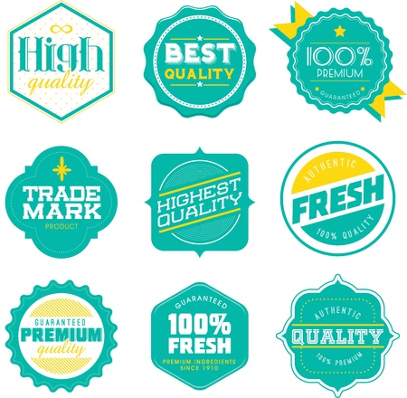 print shop: Vintage Retro Premoium Quality Guaranteed Label Vector
