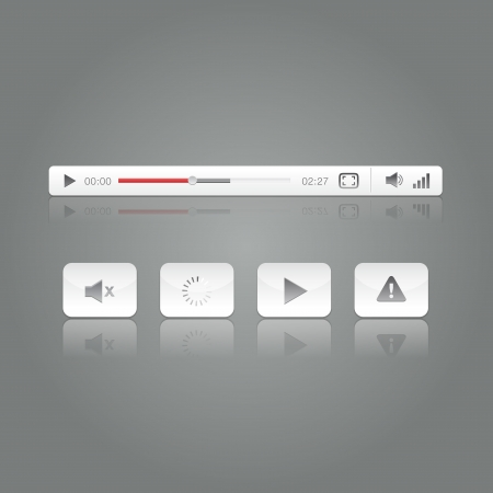 controller: Media Video Player Button Icon Set Vector Illustration Ready to Use