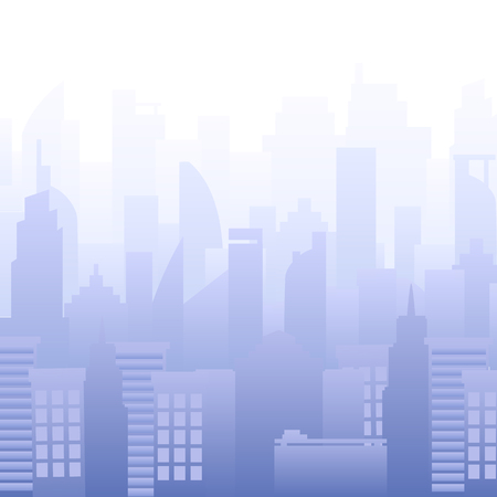 Modern city skyline vector illustration. Urban landscape. Buildings silhouette Purple. 向量圖像