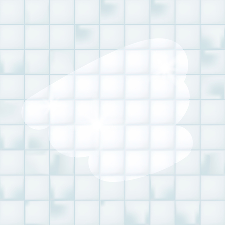 Dirty and clean ceramic tile. Cleaning service concept. Realistic vector illustration