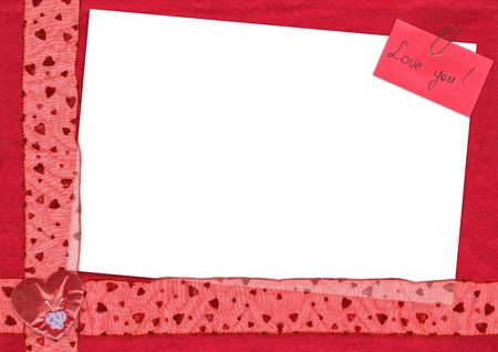 a card for St Valentines design with a place for a photo