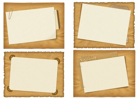 four ancient paper designs Stock Photo - 1815510