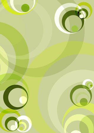 green background with retro circles