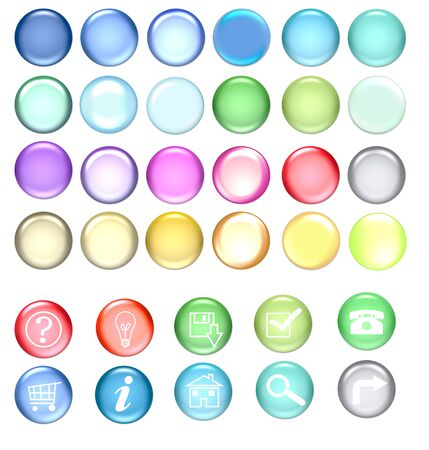 colorful icon set. you can change colors as you like and paint your own symbols