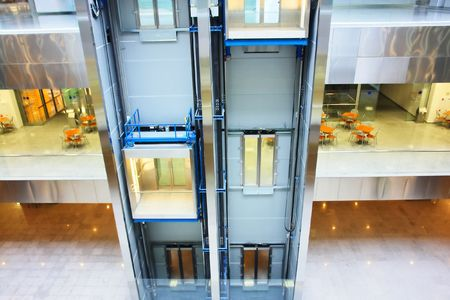 two passenger lifts in business center