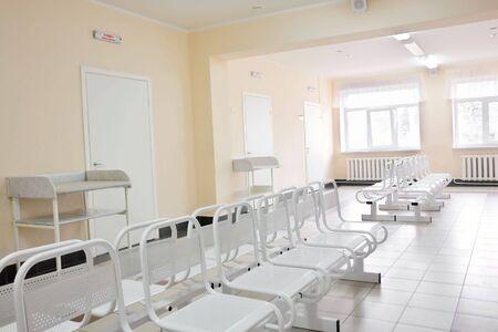 modern childrens hospital empty interior                                Stock Photo