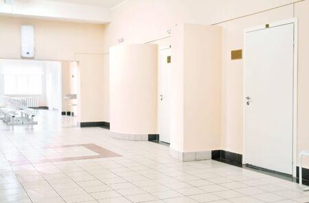 hospital corridor: modern hospitals interior