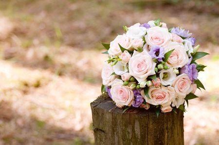 beautiful wedding bouquet background Stock Photo