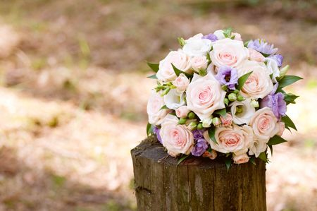 beautiful wedding bouquet background Stock Photo