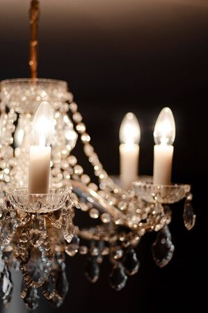 detail of a beautiful crystal chandelier Stock Photo - 7035679