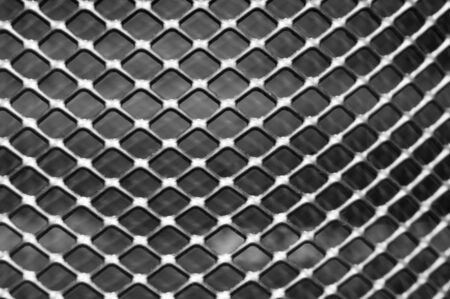 close-up of a metal grid background
