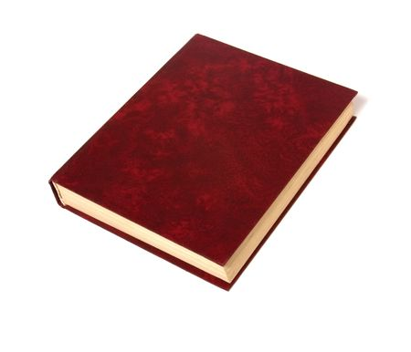 single book isolated on white Stock Photo