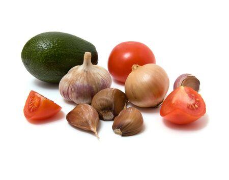 vegetable isolated on white photo