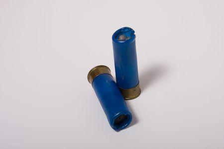 homemade hunting  cartridge isolated on white Stock Photo - 3776265
