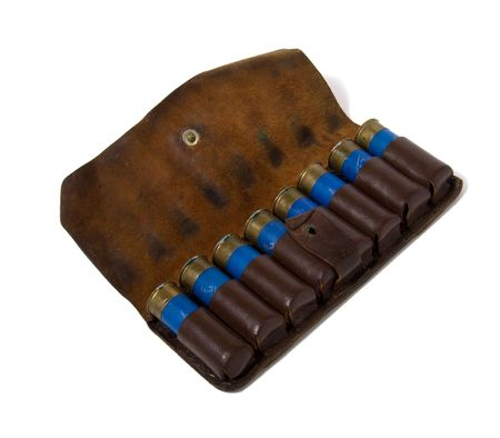 vintage ammunition belt isolated on white Stock Photo - 3776273