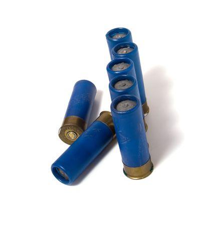 hunting  cartridge isolated on white photo
