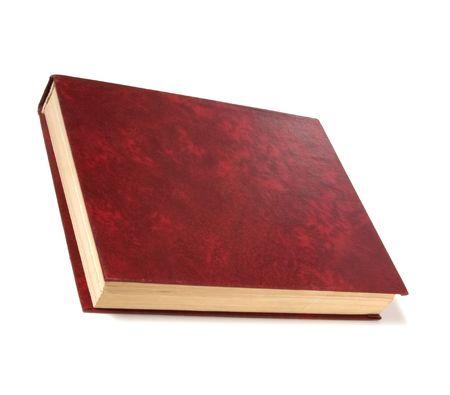 single book isolated on white photo