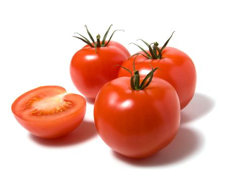 tomato isolated on white thebackground