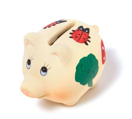 Piggy bank isolated on white background Stock Photo - 3863651