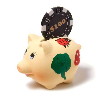 Piggy bank isolated on white background Stock Photo - 3863657