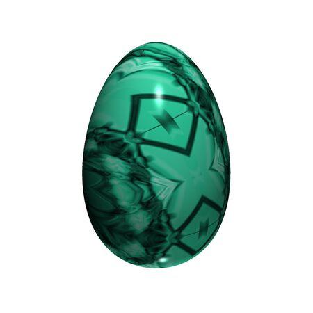 easter egg isolated on white photo