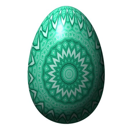 easter egg isolated on the white background photo