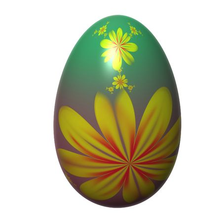 painted easter egg isolated on the white background photo