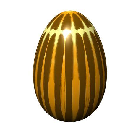 huevo de pascua en el aislado fondo blanco Foto de archivo - 4497664