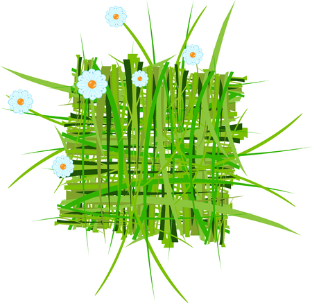 pasturage: grass decoration in vector