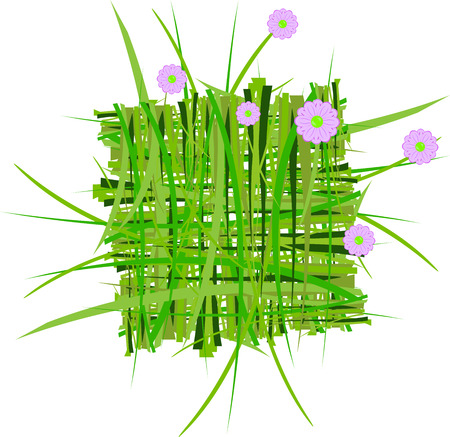 grass decoration in vector Vector
