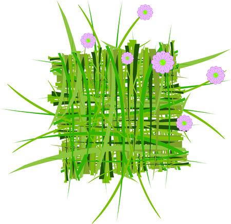 grass decoration in vector Vector