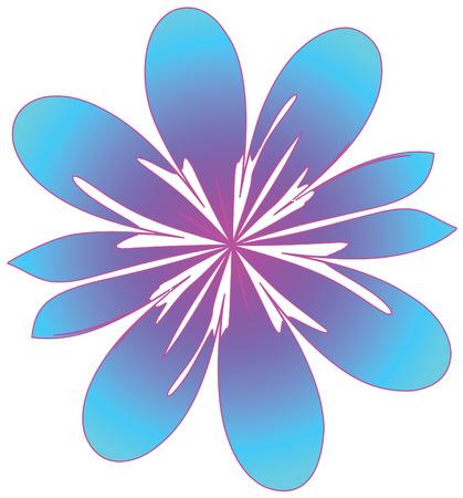 margriet: vector, gestileerde bloem Stock Illustratie