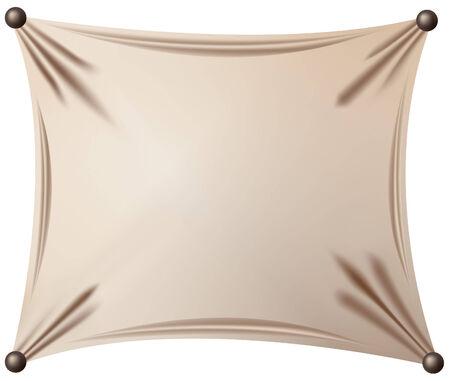 pushpins: Vector, cartel vintage aisladas sobre fondo blanco, contiene elementos de malla de degradado