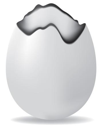 vector, broken easter egg, contains gradient mesh elements Vector