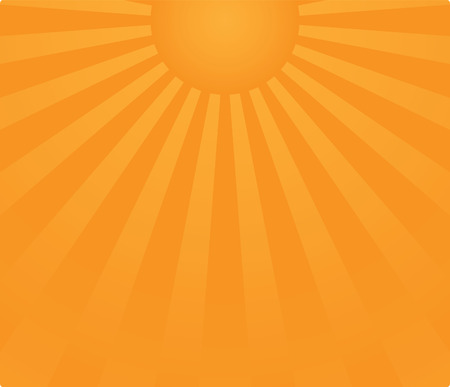 sunbeams: sunrise background in vector