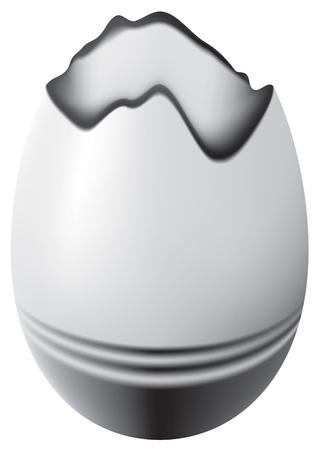 vector, broken easter egg, contains gradient mesh elements Stock Vector - 5380239